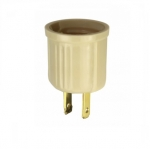 660W Outlet Adapter, Polarized, NEMA 1-15R, Ivory