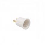 660W Outlet Adapter, Polarized, NEMA 1-15R, White