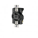 Industrial Grade 20 Amp Non-NEMA 3-Phase Single Receptacle, Black