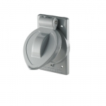Weatherproof Single Receptacle Metal Cover for FS/FD -BOXes, Gray