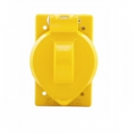 Weatherproof Single Receptacle Metal Cover for FS/FD -BOXes, Yellow