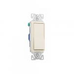 15 Amp Decorator Switch, Single-Pole, #14-12 AWG, 120/277V, Almond