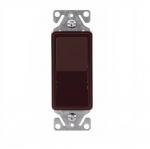 15 Amp Single Pole Rocker Switch, Brown