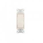 15 Amp Decorator Switch, Single-Pole, #14-12 AWG, 120V-277V, Light Almond
