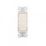 15 Amp Decorator Switch, Single-Pole, #14-12 AWG, 120/277V, Light Almond