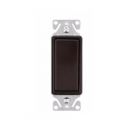 15 Amp Decorator Switch, Single-Pole, #14-12 AWG, 120/277V, Rubbed Bronze