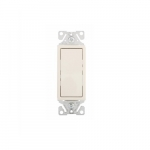 15 Amp Decorator Switch, Single-Pole, #14-12 AWG, 120V-277V, Ivory