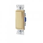 15 Amp Decorator Switch, Single-Pole, #14-12 AWG, 120/277V, Ivory