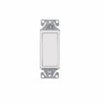 15 Amp Decorator Switch, Single-Pole, #14-12 AWG, 120V-277V, White