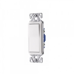 15 Amp Decorator Switch, 3-Way, #14-12 AWG, 120/277V, White