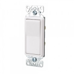 15A Decorator Switch, Momentary Contact, Single-Pole, Almond