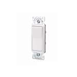 15 Amp Momentary Contact Switch, Single-Pole, #14-12 AWG, 120V-277V, Light Almond