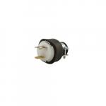 15 Amp Locking Device Plug, 2-Pole, 2-Wire, 125V, Black