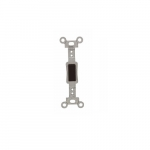 Wallplate Toggle Switch Insert, Standard, Brown