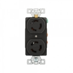 10/15 Amp Non-NEMA 125V/250V Duplex Locking Power Receptacle