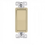 15 Amp 3-Way Rocker Switch, Commercial Grade, Ivory