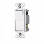 15 Amp 4-Way Rocker Switch, Commercial Grade, White