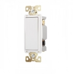 20 Amp 3-Way Lighted Rocker Switch, White