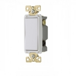 20 Amp 4-Way Lighted Rocker Switch, White