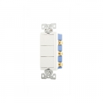 15 Amp Rocker Switch, Single Pole (3), 3-Way, 120V, White