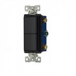 Two 15 Amp 3-Way Switches Rocker Switch, Auto Ground, Black