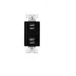 5 Amp 4-Port USB Charging Station, Type A, Black