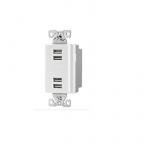5 Amp 4-Port USB Charging Station, Type A, White
