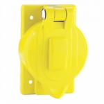 Weatherproof Receptacle Cover for 50 Amp Locking Devices, Yellow