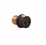 660W Socket Adapter, NEMA 1-15R, Medium Base, Brown