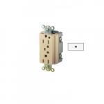 15 Amp Duplex Receptacle w/ LED Indicator & Alarm, 2-Pole, 3-Wire, 125V, White