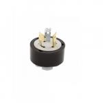 20 Amp Locking Plug w/ Safety Grip, 3-Pole, 120V-250V, Black
