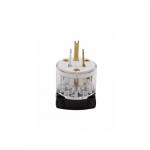 15 Amp Straight Blade Plug w/ Safety Grip, 2-Pole, 3-Wire, #14-10 AWG, 125V