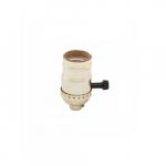 250W Lamp Holder, Medium Base, Aluminum, Turn Knob, Brass