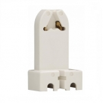660W Lamp Holder, Medium Bi-Pin Base, White