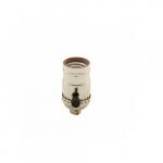 250W Lamp Holder, Medium Base, Aluminum, Turn Knob, 3-Way, Brass