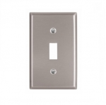 1-Gang Toggle Switch Wall Plate, Standard, Steel