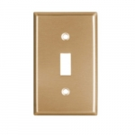 1G Wallplate, Brass Toggle, Standard Size