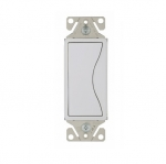 15 Amp Designer Light Switch, Single Pole, Alpine White
