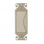 15 Amp Designer Light Switch, Single Pole, Desert Sand