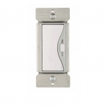 600W Slide Dimmer, Incandescent, White Satin