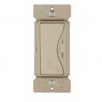 600W Slide Dimmer, Single Pole/3-Way, Desert Sand