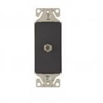 Coax Insert, Single Adapter, Silver Granite