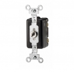 20 Amp Locking Switch w/ Key Removal, Corbin Locking, Single-Pole