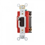 20 Amp Locking Switch, 4-Way, Industrial, Brown
