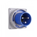 100 Amp Pin and Sleeve Inlet, 2-Pole, 3-Wire, 250V, Blue