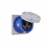 100 Amp Pin and Sleeve Receptacle, 2-Pole, 3-Wire, 250V, Blue