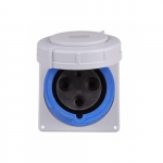 125 Amp Pin and Sleeve Receptacle, 2-Pole, 3-Wire, 240V, Blue