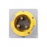 20 Amp Pin and Sleeve Inlet, 2-Pole, 3-Wire, 125V, Yellow