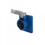20 Amp Pin and Sleeve Receptacle, 2-Pole, 3-Wire, 250V, Blue