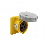 30 Amp Pin and Sleeve Receptacle, 2-Pole, 3-Wire, 125V, Yellow